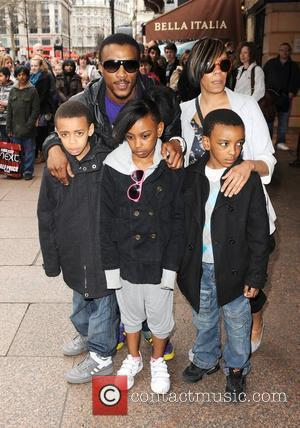 Ashley Walters and family The 'How to Train Dragon' gala screening at the Vue cinema in Leicester Square - Arrivals...