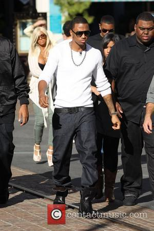 Trey Songz was at The Grove to take part in the entertainment television news programme 'Extra' Los Angeles, USA -...