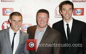 Danny Miller, Dominic Brunt and Mark Charnock  TV Choice Awards 2010 at The Dorchester - arrivals London, England -...