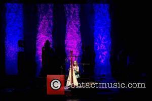 Joanna Newsom performing Benefit concert for UCSF Benioff Children's Hospital, held at Nob Hill Masonic Auditorium - Inside San Francisco,...