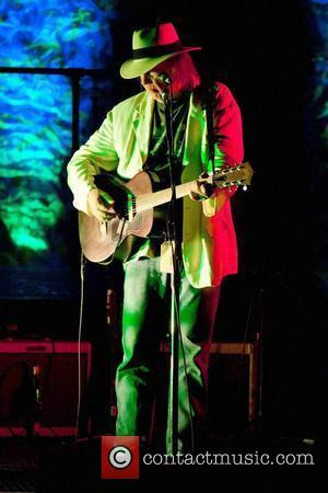 Neil Young performing Benefit concert for UCSF Benioff Children's Hospital, held at Nob Hill Masonic Auditorium - Inside San Francisco,...