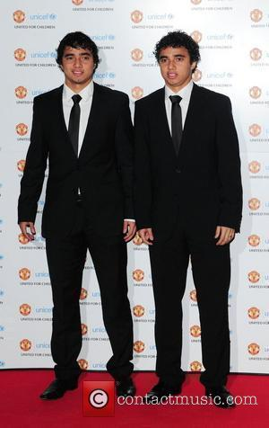 Fabio da Silva & Rafael da Silva UNICEF Dinner 2010 held at Manchester United Football Club, Old Trafford Manchester, England...