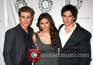 Paul Wesley, Nina Dobrev and Ian Somerhalder The 27th annual PaleyFest presents 'The Vampire Diaries' at the Saban Theatre Los...