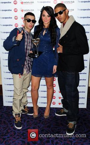 Dino Contostavlos, Tulisa Contostavlos and Richard Rawson of N-Dubz The Variety Club Showbiz Awards 2010 at the Grosvenor House Hotel...