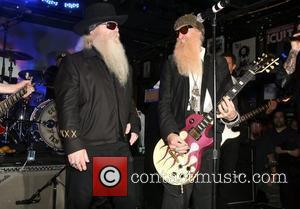 ZZ Top perform on stage for the John Varvatos Rocked NYC 10 year Anniversary Party at the John Varvatos store...