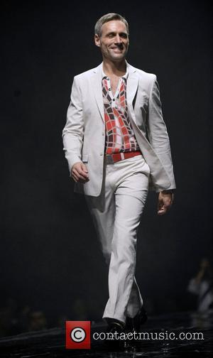 Model  Versace collection at the 2010 Bell Celebrity Gala held at the Metro Toronto Convention Centre - Runway Toronto,...