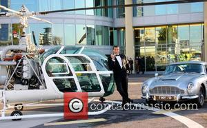 Donald Standen The launch of Vertilon Bar at Hotel Verta featuring the Helicopter and Aston Martin from Goldfinger London, England...