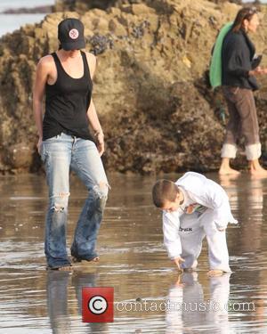 Victoria Beckham and Cruz Beckham