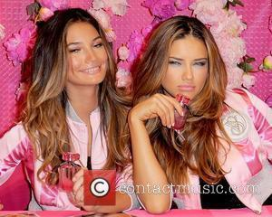 Lily Aldridge and Adriana Lima Victoria's Secret Beauty debuts their new fragrance 'Bombshell' at the Victoria's Secret store Aventura, Florida...