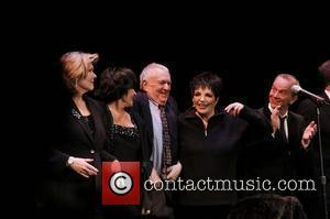 Debra Monk, Chita Rivera, John Kander, Liza Minnelli, and Joel Grey  The 2010 Vineyard Theatre Gala honoring Kander and...