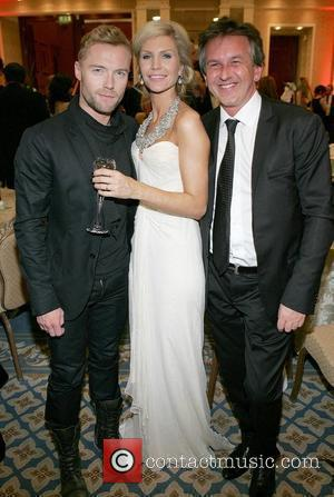 Ronan Keating, Yvonne Keating, Ireland's Most Stylish Woman prize winner and Michael O'Doherty VIP Style Awards at the Shelbourne Hotel...