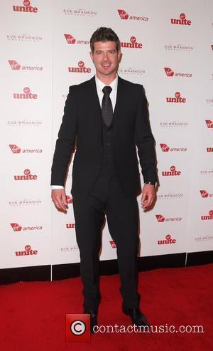 Robin Thicke 4th Annual Rock The Kasbah Gala In Supoprt Of Virgin Unite held at the Dorothy Chandler Pavilion -...