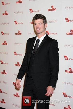 Robin Thicke 4th Annual Rock The Kasbah Gala In Support Of Virgin Unite held at the Dorothy Chandler Pavilion -...