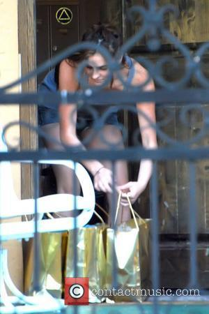 Ali Lohan outside Lindsay Lohans apartment Friends and family visit the actress before she begins a 90 day custodial sentence...