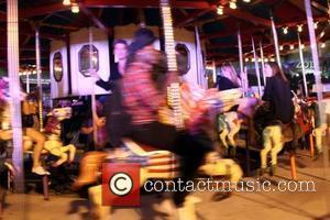 Alexander Wang Carnival-Themed After-Party Delivers Bumper Cars, a Carousel during Mercedes-Benz Fashion Week. The party took place in a parking...