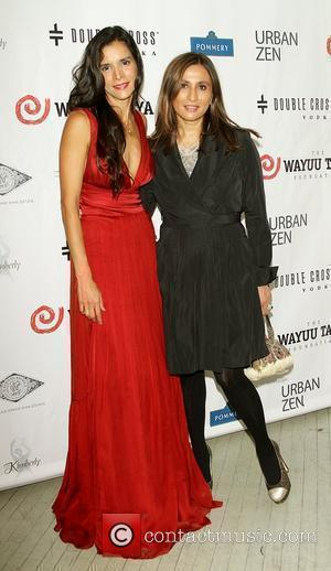 Patricia Velasquez and Donna Karan