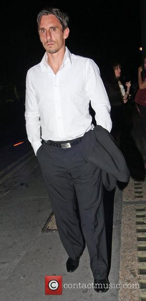 Gary Neville outside Whisky Mist nightclub in Mayfair. London, England - 08.08.10