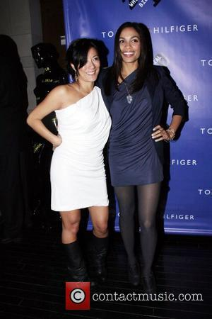 Rosario Dawson and Tommy Hilfiger