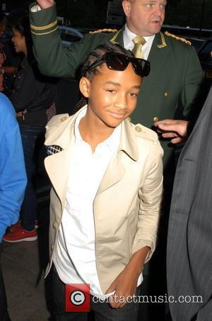 Jaden Smith greets fans as he arrives at The Dorchester Hotel London, England - 15.07.10