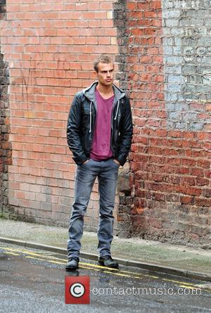 Theo James on the set of new television drama 'Bedlam' Manchester, England - 23.08.10