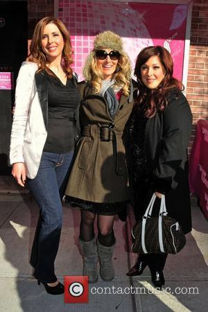 Wendy Wilson, Chynna Phillips and Carnie Wilson of Wilson Phillips  outside the studio ahead of an appearance on 'The...
