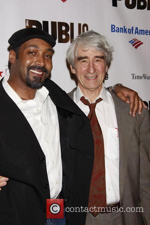 Jesse L. Martin and Sam Waterston Opening night of The Public Theater production of 'The Winter's Tale' at Shakespeare In...