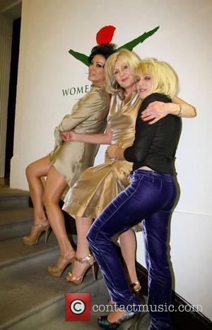 Nancy Dell'olio, Liz Brewer and Tallulah Rendall