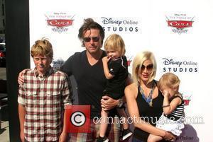 Tori Spelling, Dean Mcdermott, Daughter Stella Mcdermott and Family