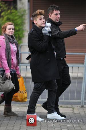 Aiden Grimshaw arrives at 'The X Factor' studios ahead of tonight's live final show London, England - 12.12.10