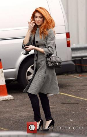 Nicola Roberts arrives at Fountain Studios in preparation for the the X factor finals this weekend London, England - 10.12.10