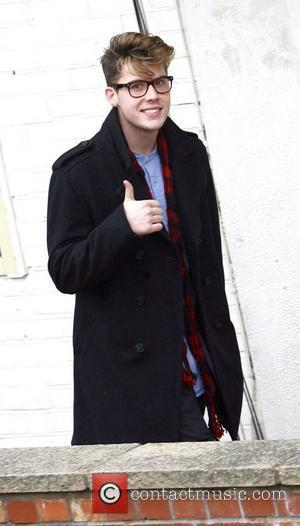 Aiden Grimshaw X Factor rejects arrive at the studio for rehearsals for the final show. London, England - 10.12.10