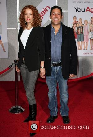 Oscar Nunez and wife Carla Nunez Los Angeles Premiere of You Again held at the El Capitan Theatre.  Hollywood,...