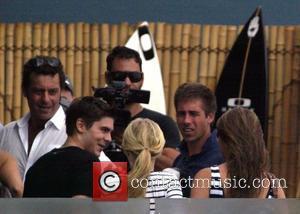 Zac Efron  visits North Bondi Italian after surfing at Bondi Beach Sydney, Australia -16.02.10