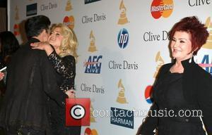 Adam Lambert, David Geffen, Kelly Osbourne and Sharon Osbourne