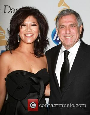 Les Moonves, David Geffen and Julie Chen