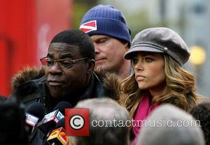 Tracy Morgan and Denise Richards on location at Rockefeller Center shooting '30 Rock'  New York City, USA - 17.10.11