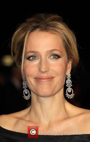 Gillian Anderson and Odeon Leicester Square