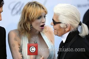 Courtney Love and Karl Lagerfeld