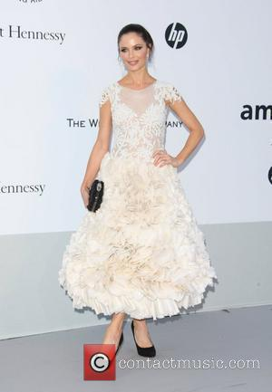 Georgina Chapman and Freida Pinto