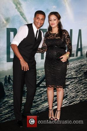 Cory Hardrict and Tia Mowry  Battle: Los Angeles Los Angeles Premiere  Held At Regency Village Theatre  Westwood,...