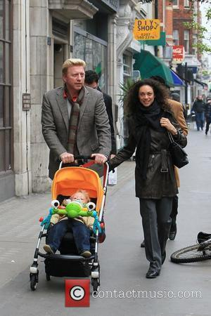 Boris Becker, his wife Sharlely Kerssenberg aka Lilly Kerssenberg and their son Amadeus go for a stroll in Central London...
