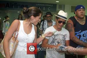 Bruno Mars arrives at Luis M Marin Airport in Carolina  ahead of his concert Carolina, Puerto Rico - 07.09.11