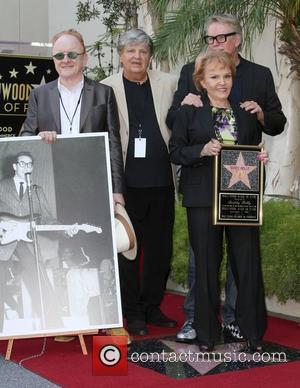 Peter Asher, Phil Everly, Maria Elena Holly and Gary Busey Buddy Holly Star Unveiling On The Hollywood Walk Of Fame...