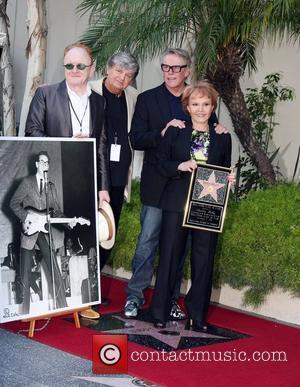 Peter Asher, Phil Everly, Gary Busey, Maria Elena Holly Buddy Holly Star Unveiling On The Hollywood Walk Of Fame Held...