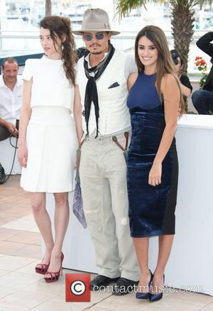 Astrid Berges-frisbey, Johnny Depp and Penelope Cruz