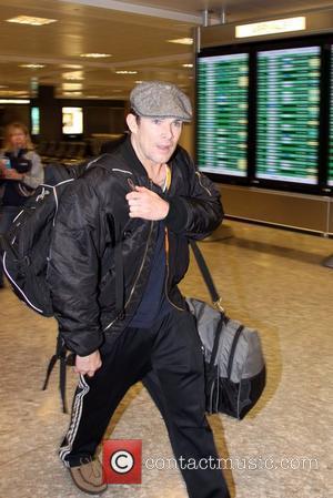 Mark McGrath  arrives at Washington Dulles International Airport ahead of a Camp Freddy benefit performance Washington DC, USA -...