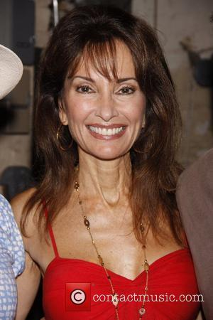 Susan Lucci The cast and special guests celebrate the 100th performance of the Broadway musical 'Catch Me If You Can'...