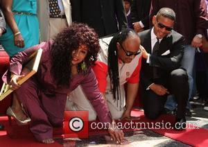 Chaka Khan, Benny Medina and Stevie Wonder