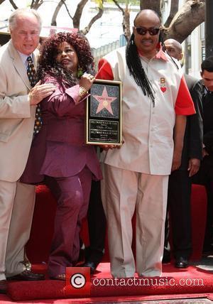 Chaka Khan and Stevie Wonder