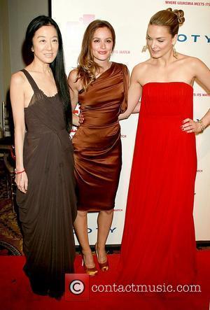 Vera Wang, Katharina Harf and Leighton Meester